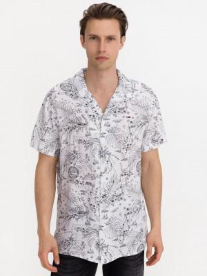 Miami Print Camp Košile Tommy Jeans Bílá
