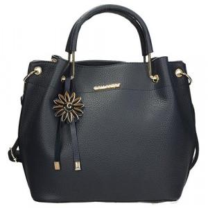 Elegantní dámská kabelka s ozdobou v granátové barvě univerzální