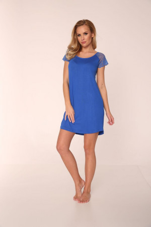 Dámská noční košile ESTELLE 349 - DE LAFENSE královská modř 2XL