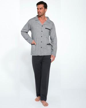 Pánské pyžamo Cornette 114/46 dl/r 3XL-5XL světle šedá 3XL