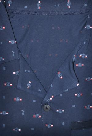 Pánské pyžamo Cornette 114/47 dl/r M-2XL námořnická modrá