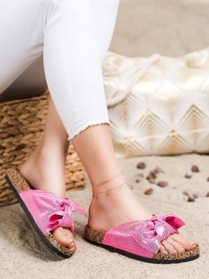 Trendy  nazouváky dámské růžové bez podpatku
