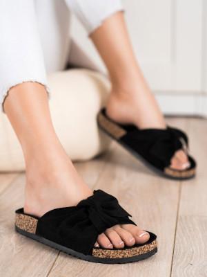 Výborné  nazouváky dámské černé bez podpatku