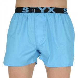 Pánské trenky Styx sportovní guma světle modré (B969)