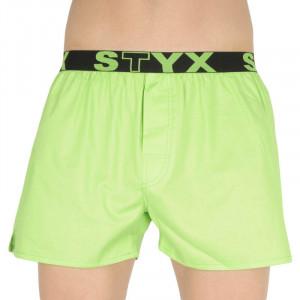 Pánské trenky Styx sportovní guma zelené (B1069)