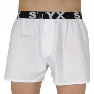 Pánské trenky Styx sportovní guma bílé (B1061)