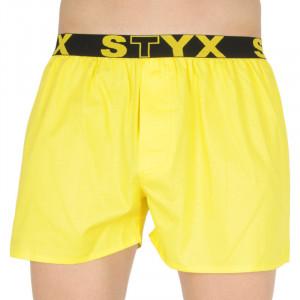Pánské trenky Styx sportovní guma žluté (B1068)