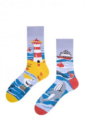 Nepárové ponožky Spox Sox Moře 36-46 vícebarevný 44-46