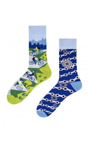 Nepárové ponožky Spox Sox Kolo 36-46 vícebarevný 40-43