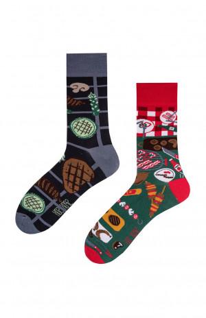 Nepárové ponožky Spox Sox Grill 36-46 vícebarevný 36-39