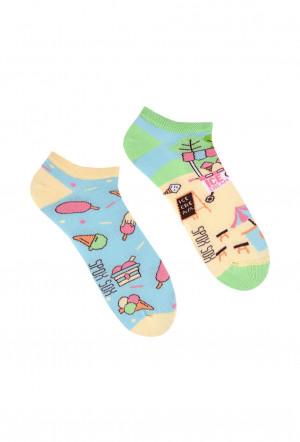 Nepárové nízké ponožky Spox Sox Lody 36-46 vícebarevný 40-43