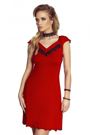 Noční košile Flora red - ELDAR
