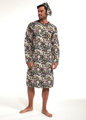 Pánská noční košile Cornette 109/643902 kr/r 3XL grafit 3XL