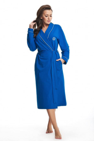 Dámský bavlněný župan Daphne modrý modrá