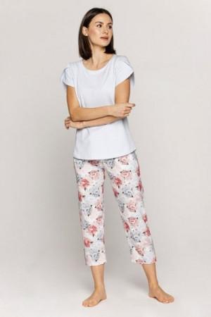 Cana 560 Dámské pyžamo 2XL XXL světle modrá-růže