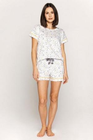 Cana 557 Dámské pyžamo 2XL XXL bílá-květiny