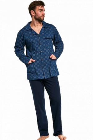 Cornette 114/47 rozepínané Pánské pyžamo L tmavě modrá