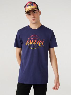 LA Lakers Summer City Infill Triko New Era Modrá