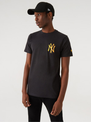 New York Yankees MLB Triko New Era Šedá