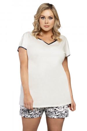 Dámské pyžamo Italian Fashion Pasja kr.r. kr.k bílá / potisk l