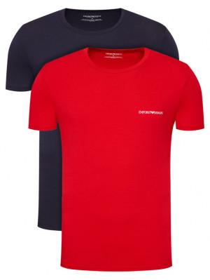Pánské tričko 2pcs 111267 1P717 76035 černá/červená - Emporio Armani barevná