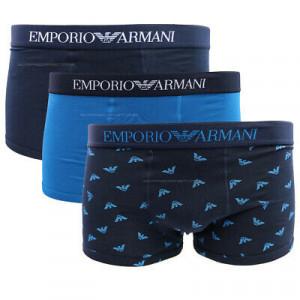 Boxerky 3pcs 111625 1P722 76135 tmavě modrá/modrá - Emporio Armani barevná
