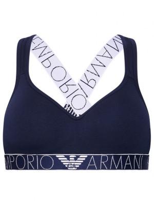 Bralette podprsenka 163995 1P227 00135 námořnická modrá - Emporio Armani marine