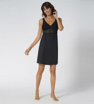 Dámská noční košile Aura Spotlight Triumph černá (0004) 044