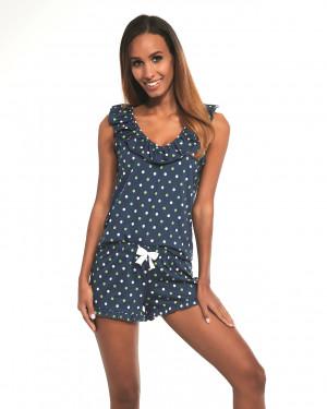 Dámské pyžamo Cornette 376/187 Jenny 3 sz/r S-2XL námořnická modrá