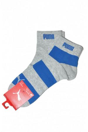 Pánské ponožky 18205 šedá - Puma šedá-modrá 43-46