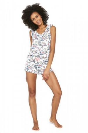 Cornette Isabel 3 376/216 Ecru Dámské pyžamo M ecru