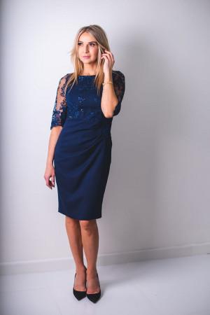 Dámské společenské šaty Skwana  model 127212 - Jersa granátová
