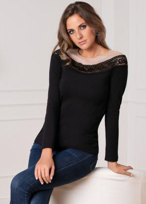 Dámské tričko Cotonella GD263 M Černá