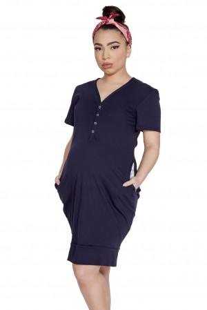 Dámská noční košile Mitex Mama Dress K šedá