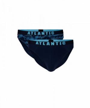 Atlantic 2MP-1559 Pánské slipy 2 ks XXL tmavě modrá