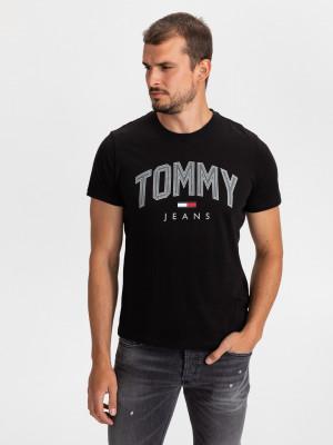 Shadow Print Triko Tommy Jeans Černá