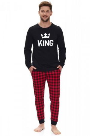 Dn-nightwear PMB.9761 Pánské pyžamo M red