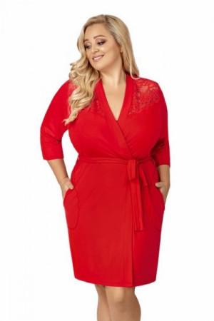 Donna Tess červený Župan Size Plus 5XL červená