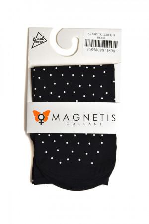 Dámské ponožky 18 s potiskem - Magnetis černo - bílá 36/38