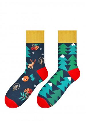 Pánské vzorované ponožky More 079 Sváteční, asymetrické 39-46 džíny 43-46