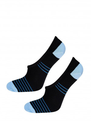 Dámské ponožky baleríny Soxo 42412 Silikon Černá 40-45