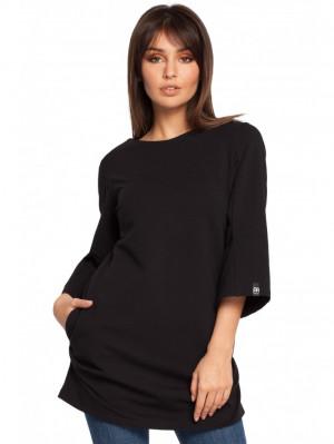 B015 Tunické šaty EU S. Černá