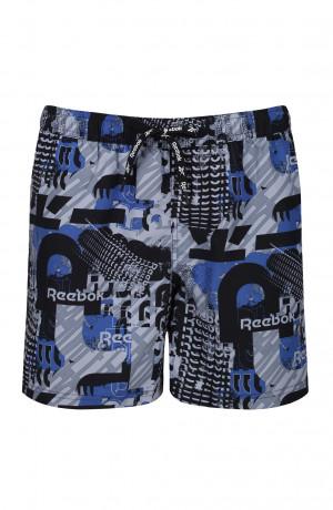 Pánské plavkové šortky Reebok 71021 Thorne Swim Short modrý otisk