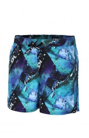 Kraťasy Reebok 71018 Tanner Swim Short skromný modrý tisk