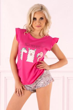 Dámské pyžamo Lovely Unicorn - LivCo Corsetti růžová L/XL