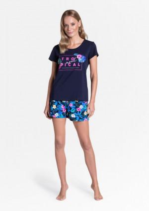 Dámské pyžamo 38905 - Henderson tmavě modrá-mix