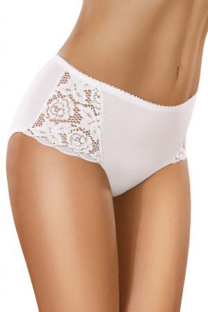Bavlněné kalhotky s vyšším pasem 29 bílé bílá
