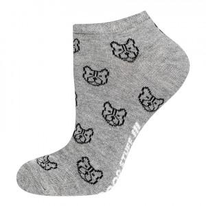Vzorované ponožky GOOD STUFF - Buldoci Šedá 40-45