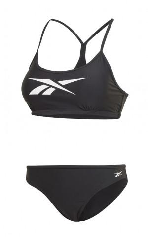 Dámské dvoudílné plavky Reebok 74006 Alanna Bikini Černá L-42