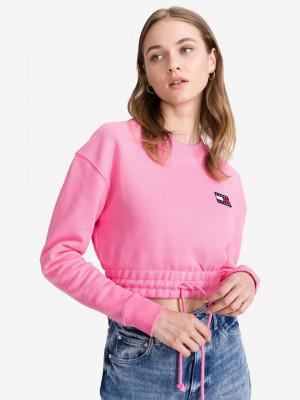 Super Crop top Tommy Jeans Růžová